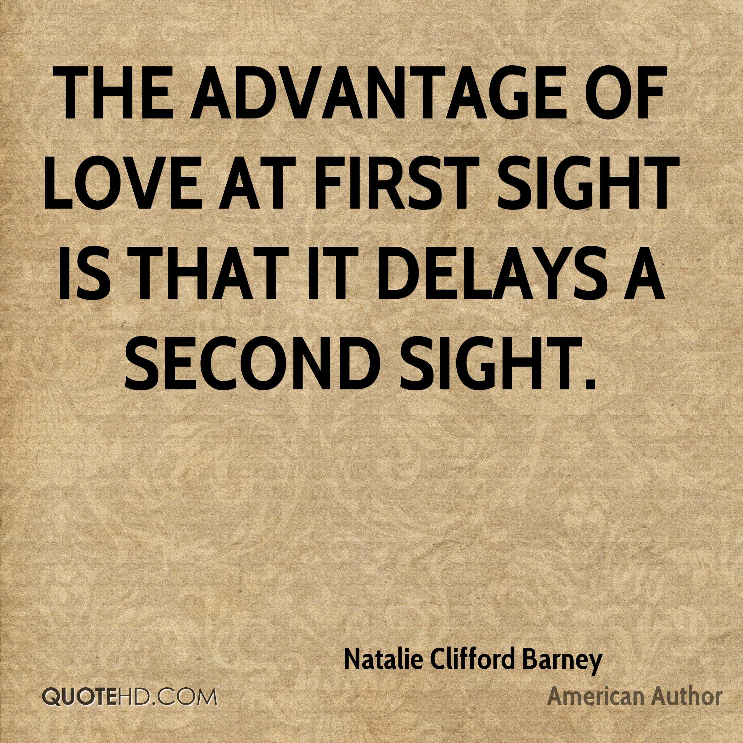 Quotes About Love At First Site: Natalie Clifford Barney Quotes