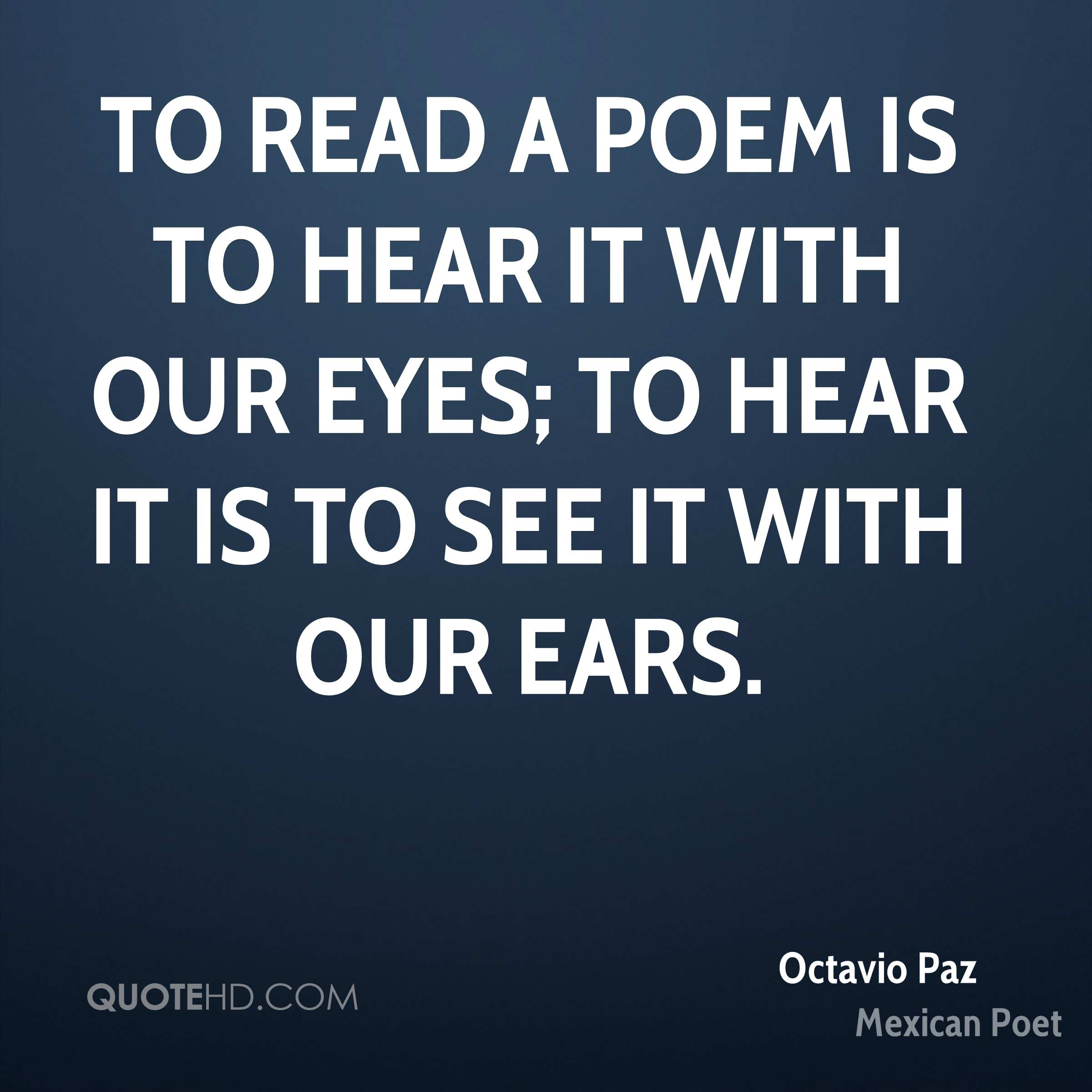 Poem Quotes: Octavio Paz Poetry Quotes