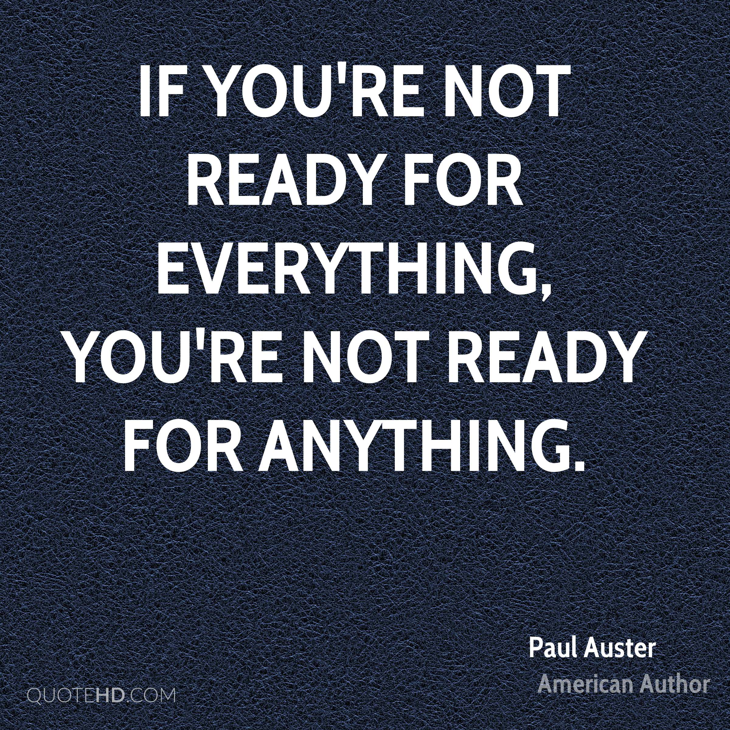 Watch Be Ready for Anything video