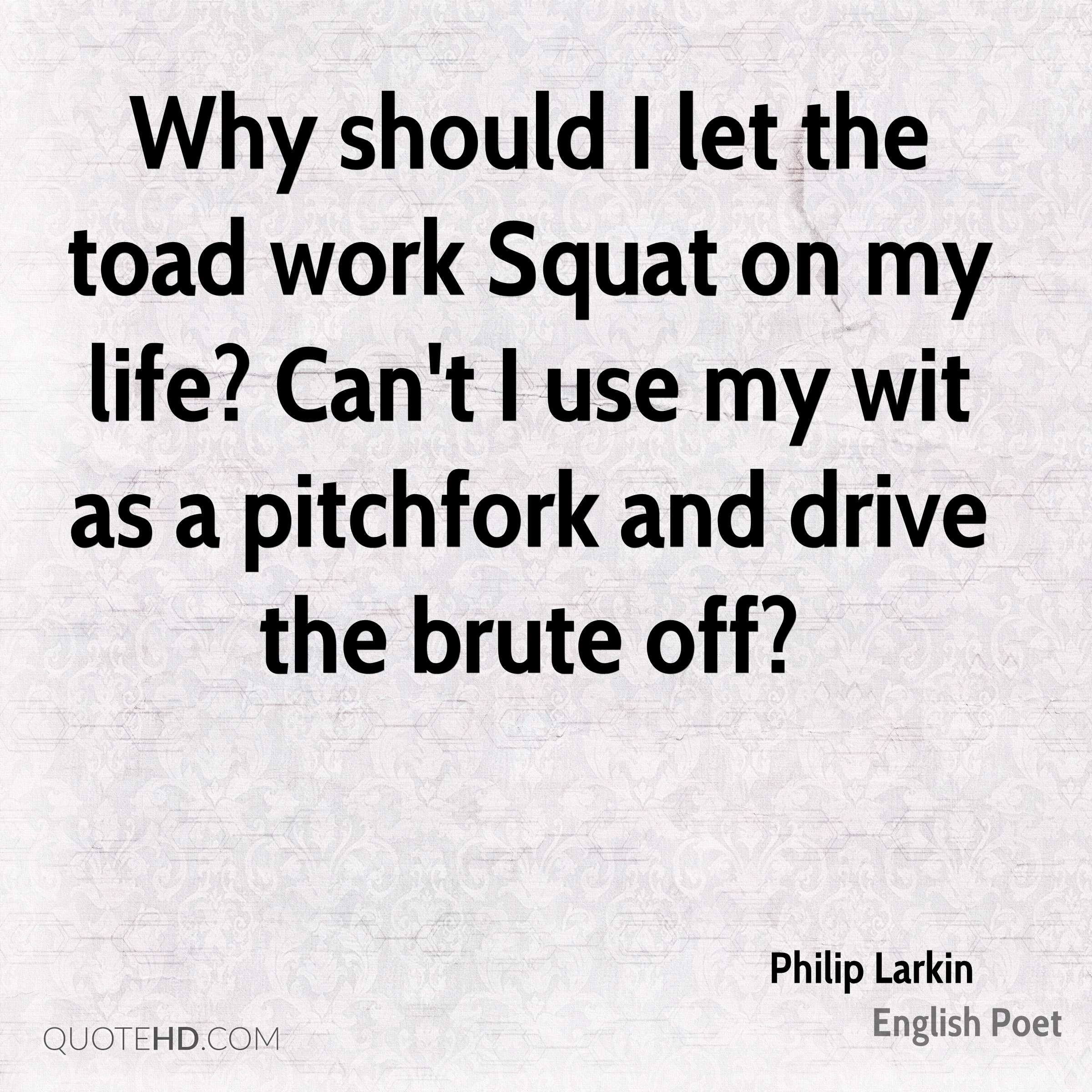 Why Should I Let The Toad Work Squat On My Life? Canu0027t I