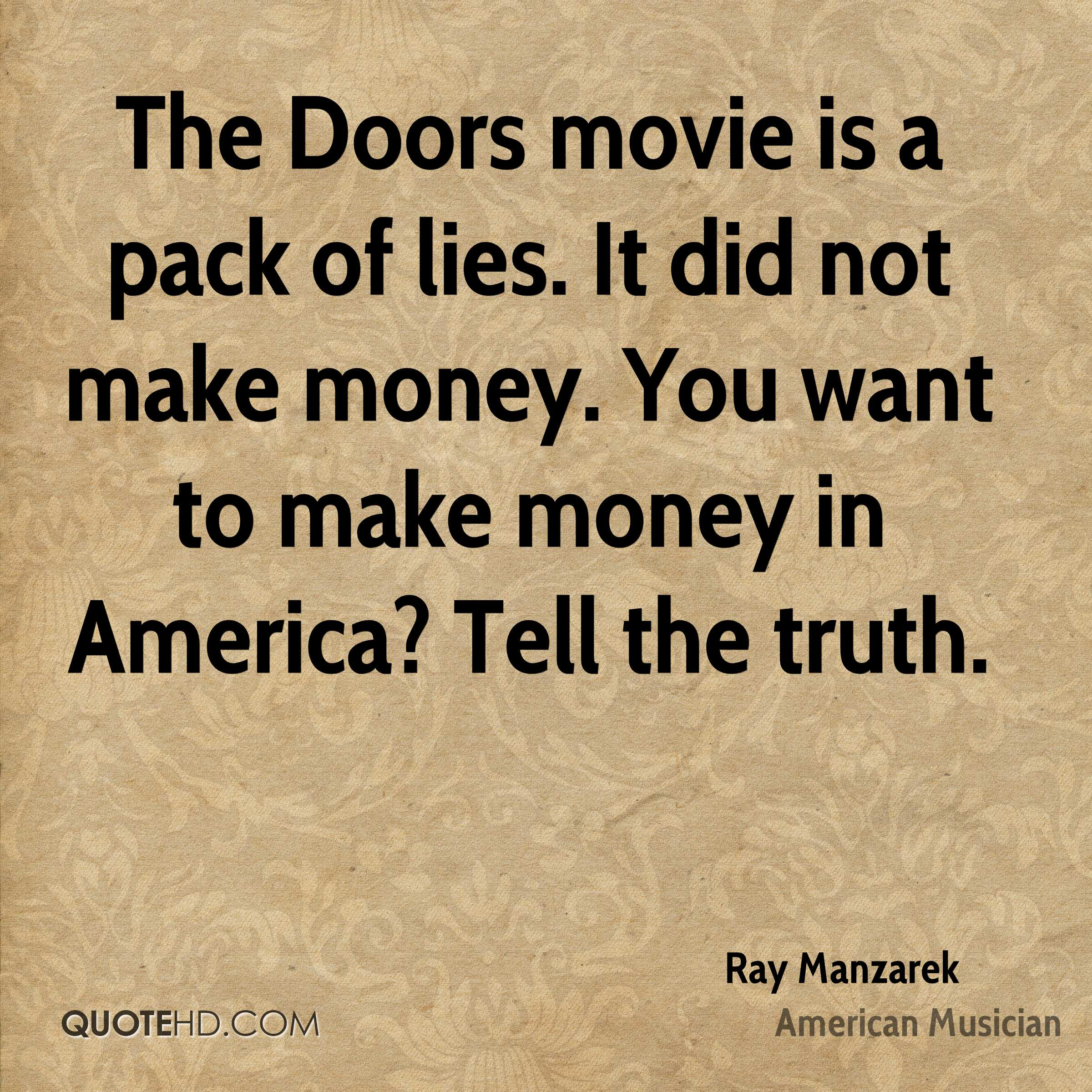 Quotes About Doors Ray Manzarek Quotes  Quotehd