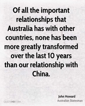 australia and china relationship history quotes