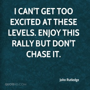 John Rutledge  - I can't get too excited at these levels. Enjoy this rally but don't chase it.