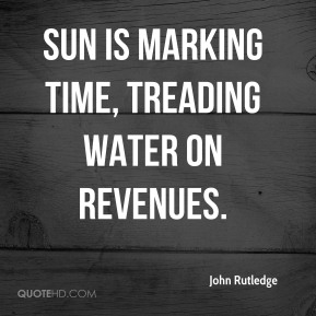 Sun is marking time, treading water on revenues.