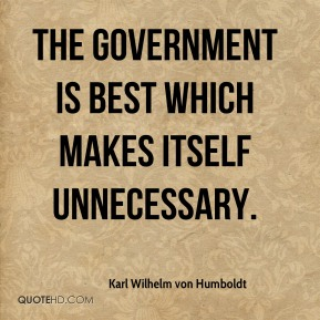 The government is best which makes itself unnecessary.