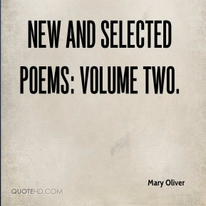 New and Selected Poems: Volume Two.