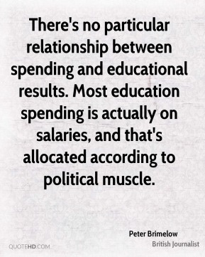 There's no particular relationship between spending and educational results. Most education spending is actually on salaries, and that's allocated according to political muscle.