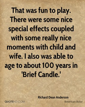 That was fun to play. There were some nice special effects coupled with some really nice moments with child and wife. I also was able to age to about 100 years in 'Brief Candle.'
