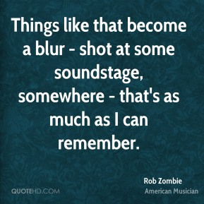 Rob Zombie - Things like that become a blur - shot at some soundstage, somewhere - that's as much as I can remember.