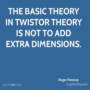 The basic theory in twistor theory is not to add extra dimensions.