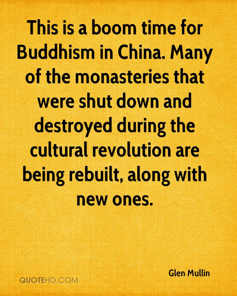 This is a boom time for Buddhism in China. Many of the monasteries that were shut down and destroyed during the cultural revolution are being rebuilt, along with new ones.