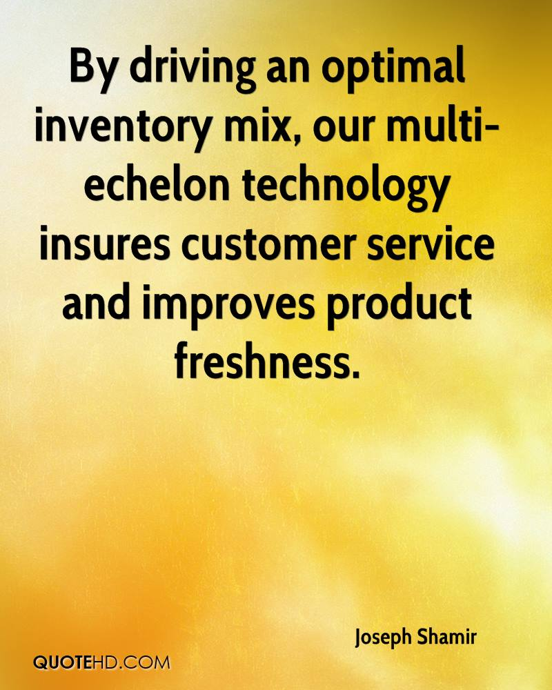 By driving an optimal inventory mix, our multi-echelon technology insures customer service and improves product freshness.