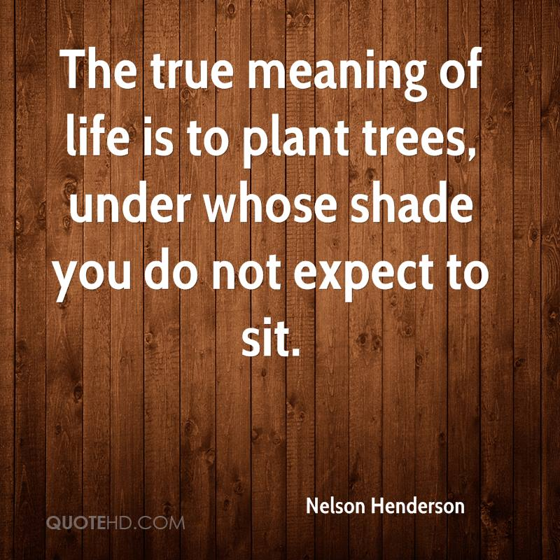 Plant Trees Under Whose Shade Quote : Nelson henderson quotes quotehd