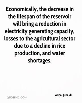 Arinal Junaidi - Economically, the decrease in the lifespan of the reservoir will bring a reduction in electricity generating capacity, losses to the agricultural sector due to a decline in rice production, and water shortages.