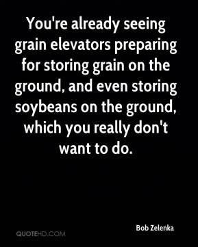 You're already seeing grain elevators preparing for storing grain on the ground, and even storing soybeans on the ground, which you really don't want to do.