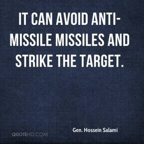 Gen. Hossein Salami - It can avoid anti-missile missiles and strike the target.