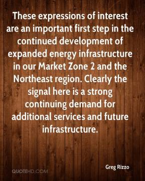 Greg Rizzo - These expressions of interest are an important first step in the continued development of expanded energy infrastructure in our Market Zone 2 and the Northeast region. Clearly the signal here is a strong continuing demand for additional services and future infrastructure.