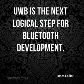 James Collier - UWB is the next logical step for Bluetooth development.