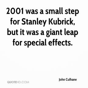 John Culhane  - 2001 was a small step for Stanley Kubrick, but it was a giant leap for special effects.