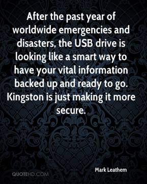 Mark Leathem  - After the past year of worldwide emergencies and disasters, the USB drive is looking like a smart way to have your vital information backed up and ready to go. Kingston is just making it more secure.