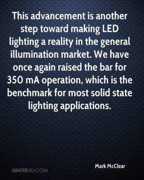 Mark McClear  - This advancement is another step toward making LED lighting a reality in the general illumination market. We have once again raised the bar for 350 mA operation, which is the benchmark for most solid state lighting applications.