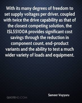 Sameer Vuyyuru  - With its many degrees of freedom to set supply voltages per driver, coupled with twice the drive capability as that of the closest competing solution, the ISL55100A provides significant cost savings through the reduction in component count, end-product variants and the ability to test a much wider variety of loads and equipment.