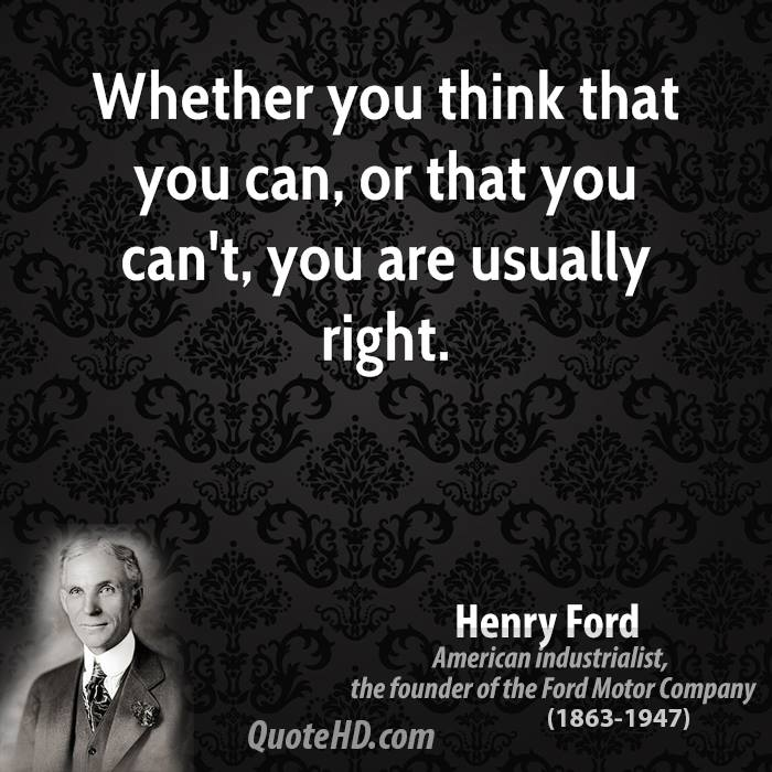 Quote Whether You Think You Can: Henry Ford Quotes